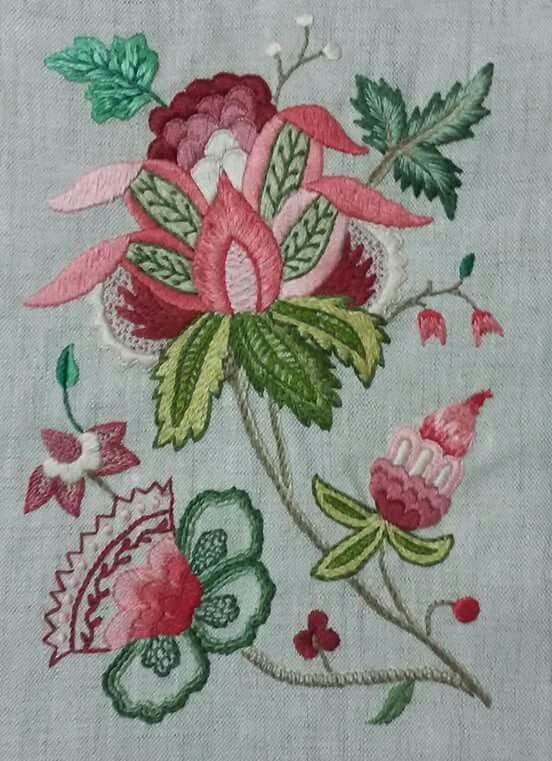 Embroidery Pattern Color Guide No Link See BW Pattern Jwt Free Best Crewel Embroidery Patterns