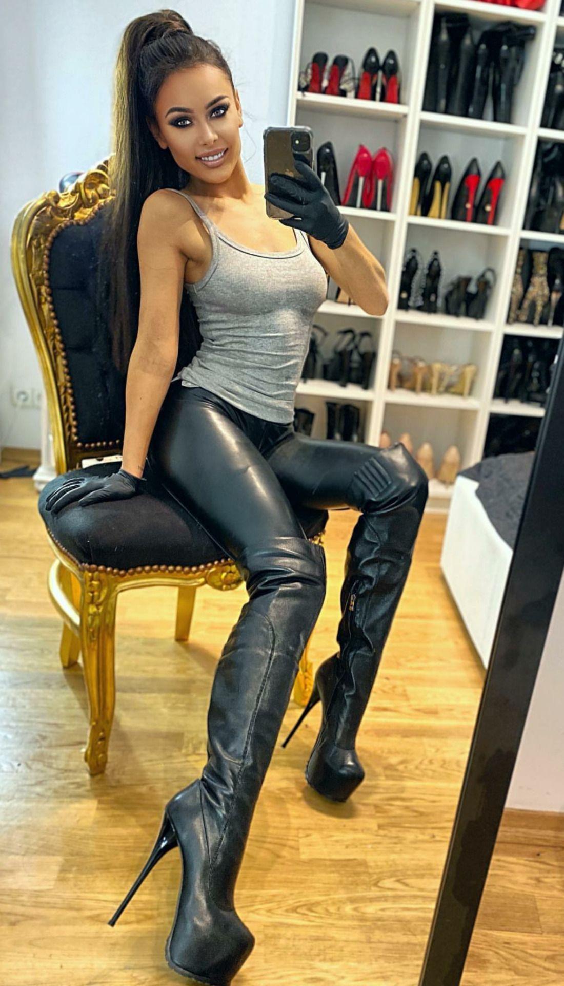 👑Goddess in Boots&Heels 👑 in 2020 | Ledermantel damen