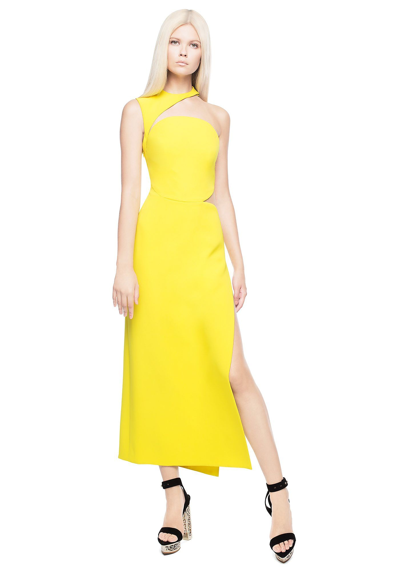 Versace Side Split Silk Evening Gown   Side split, Versace and Gowns