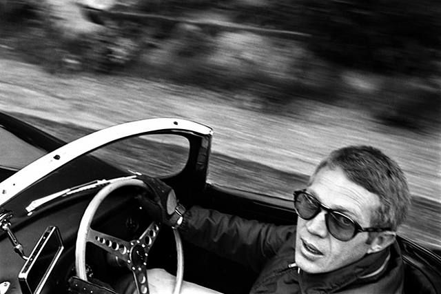 Steve McQueen being cool as usual. PS - I want these glasses!