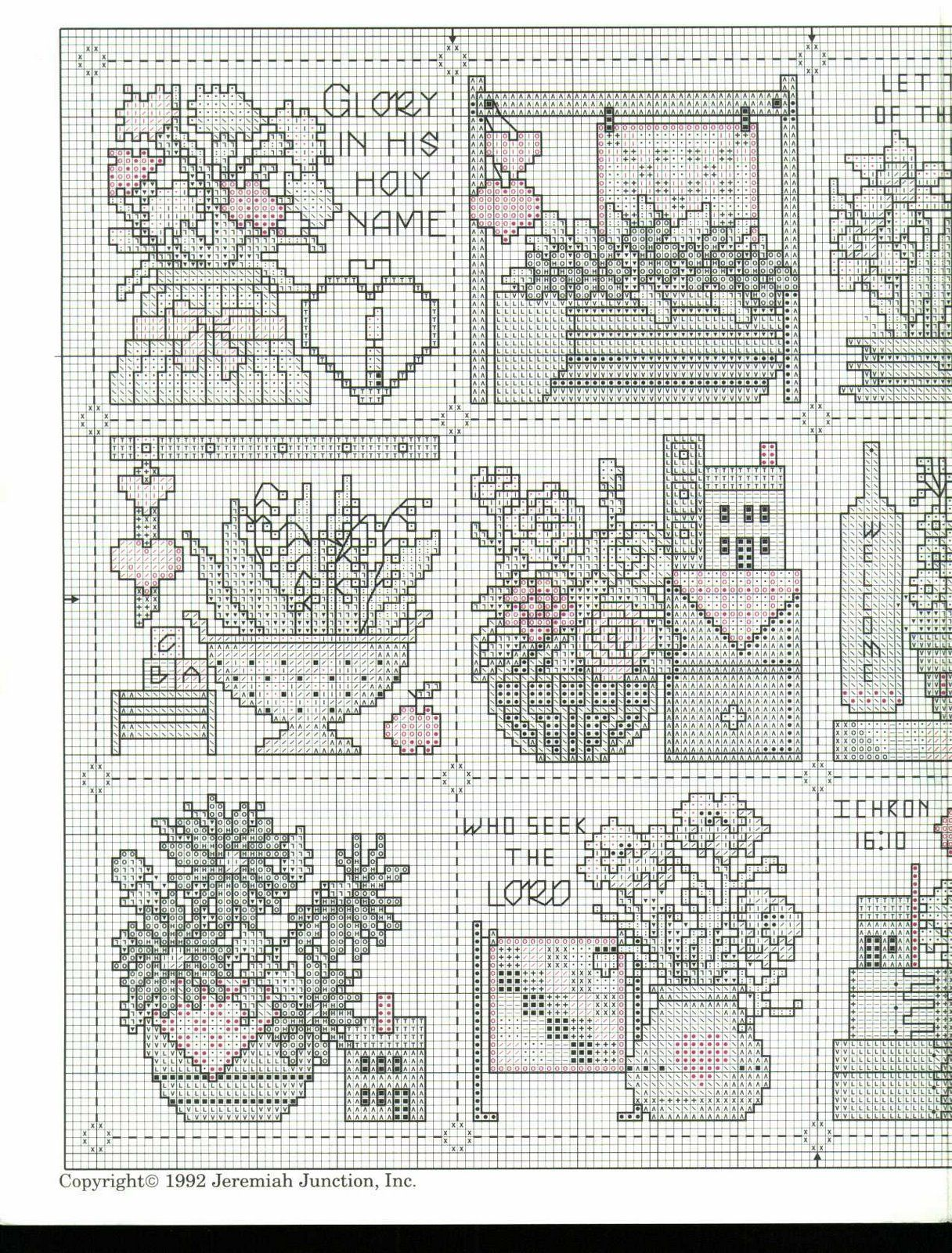 Schema punto croce Birthday Flowers 02 | Manualidades | Pinterest ...