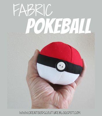 Create Kids Couture: Fabric Pokeball Free Sewing Pattern! | Catch ...