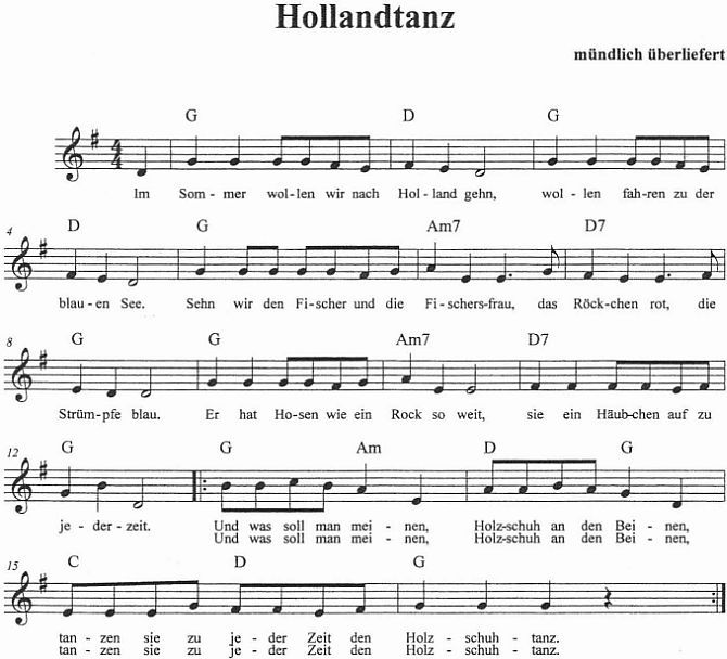 Holland Lied Text
