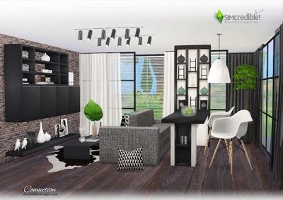 The Sims 4 Mody Salon Z Jadalnia Od Simcredible Sims 4 Living