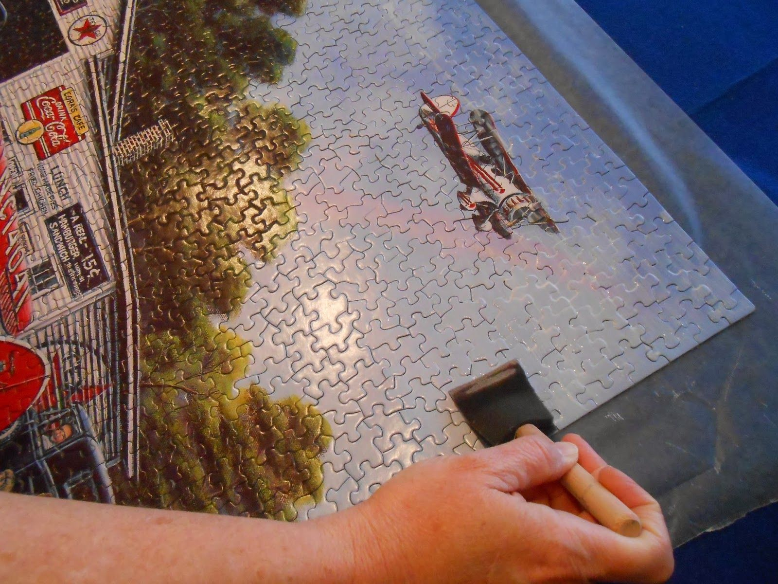 How to Preserve a Puzzle for Framing | Snippets 'N Stuff