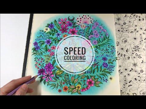 235 Speed Coloring Secret Garden Flowers Coloring Youtube In 2020 Secret Garden Colouring Secret Garden Colored Pencil Coloring Book