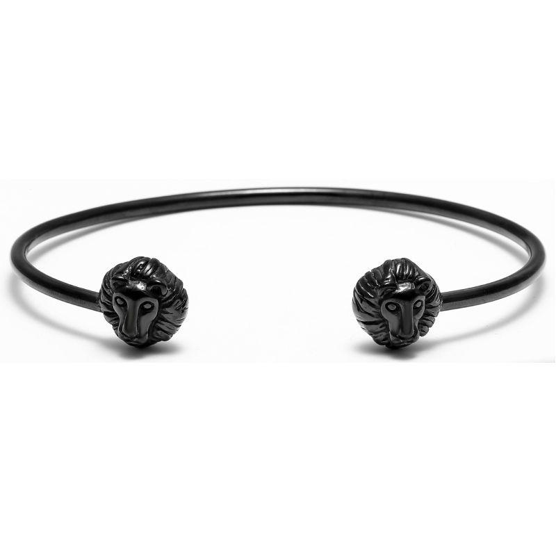 2016 New atolyestone Lion Head Bangle Cuff Bracelet Titanium Steel