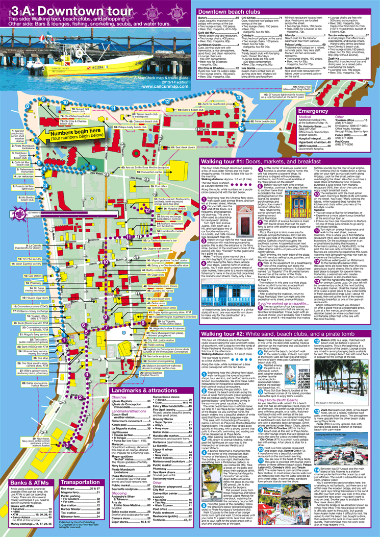 isla mujeres map and travel guide
