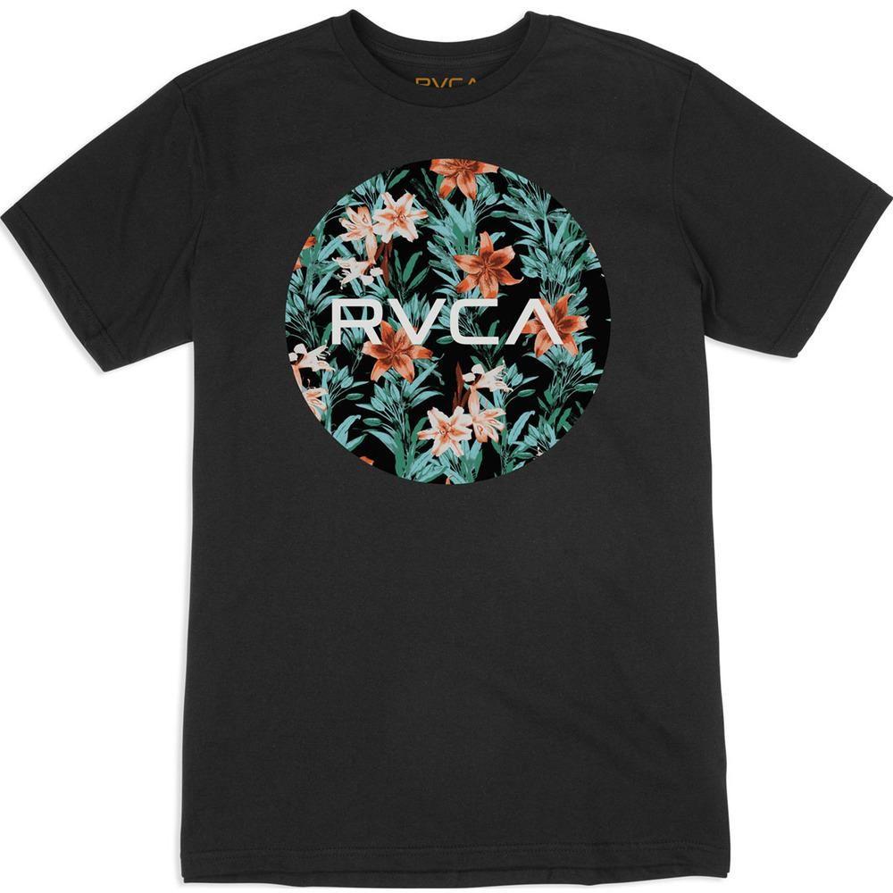 RVCA Boys Ten Short Sleeve Crew Neck T-Shirt