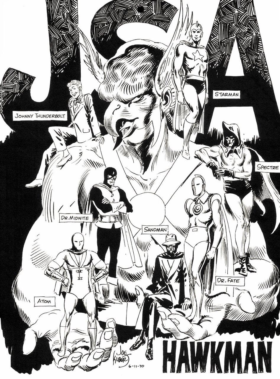 The Justice Society of America - art by Joe Kubert (1970) | comics ...