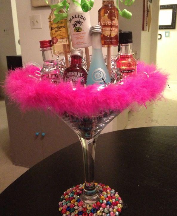 Birthday Giant Martini Glass