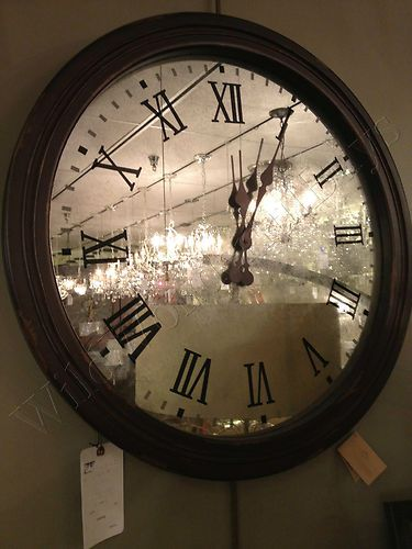Large French Antiqued Mirrored Clock The Home