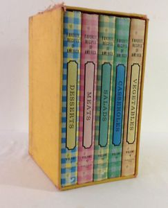 Vintage 1960s  Favorite Recipes of America  Set of 5 with Case Cooking Classics | eBay