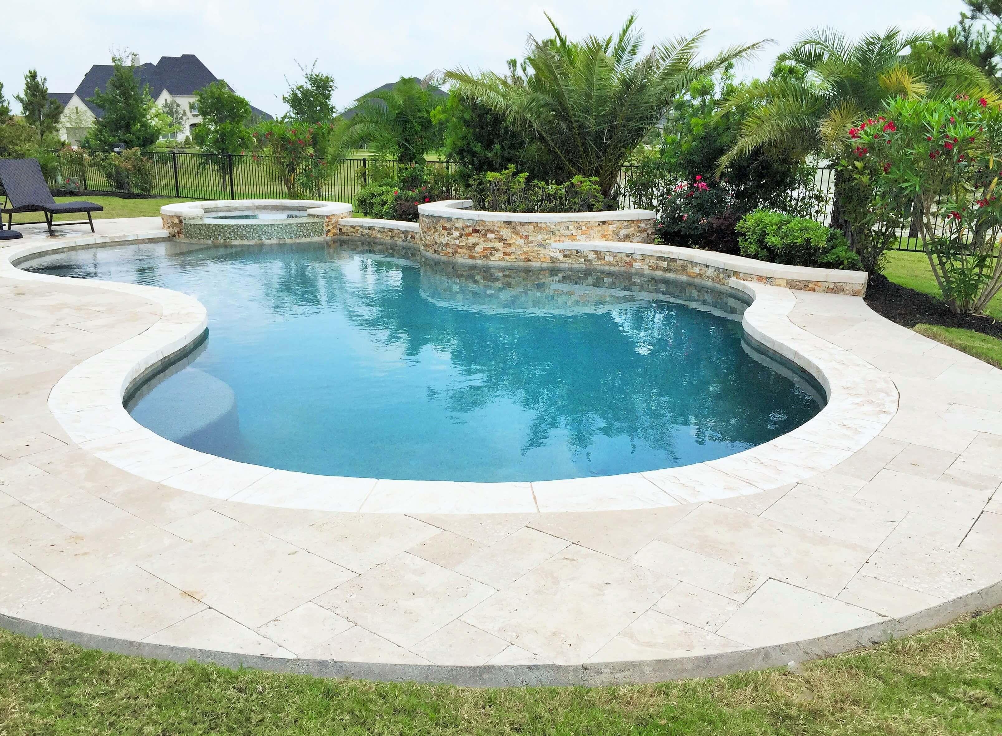 Pools Spas Gallery Custom Inground Pools In Houston Freeform Pools Backyard Pool Landscaping Swimming Pool Designs