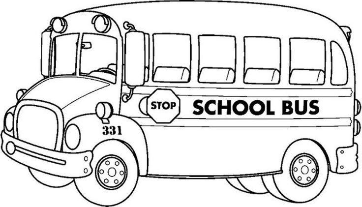 School Bus Coloring Pages | COLORING PAGES FOR FREE | Pinterest ...