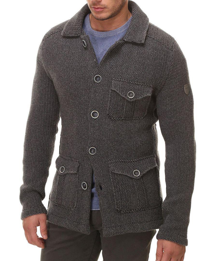 Grey wool blend triple pocket cardigan Sale - NHAV   Jumpers ...