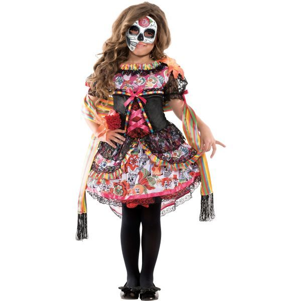 Girls Exuberante Day of the Dead Costume. Halloween ...  sc 1 st  Pinterest & Girls Exuberante Day of the Dead Costume | Halloween | Pinterest ...