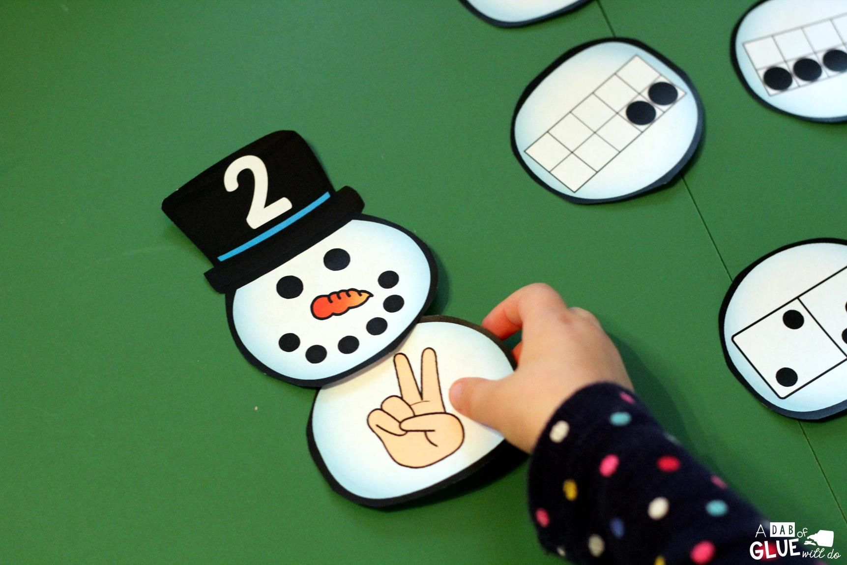 Snowman Number Match Printable With Images
