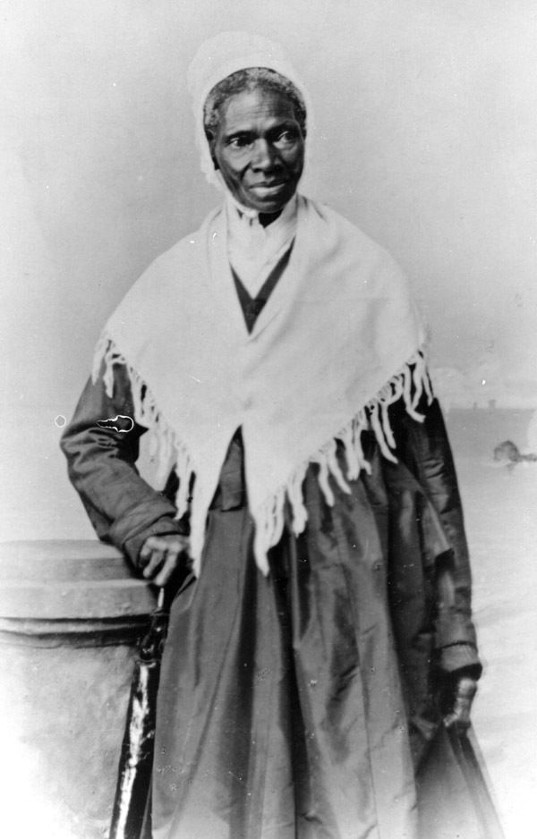 Sojourner Truth was an abolitionist and women's rights activist. When she was nine she was separated from her family and sold with a flock of sheep for $100. Her owner was cruel and beat her daily. Around 1815, Truth met and fell in love with a slave named Robert from a neighboring farm. Robert's owner forbade the relationship. Robert was savagely beaten and Truth never saw him again, learning later he died from those injuries. Late in 1826, Truth escaped to freedom with her infant daughter.