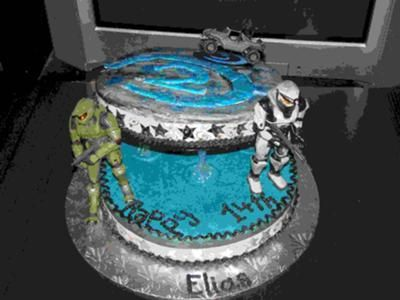 Halo cake My Boys Pinterest Halo cake Cake and Birthdays
