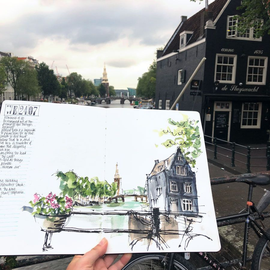 Amsterdam sketches, DRAWING  ART GALLERY Contemporary ART, #illustration, #art, #gallery, #drawing,...