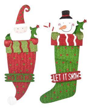 Look what I found on #zulily! Glitter Santa & Snowman Wall Art Set by GANZ #zulilyfinds