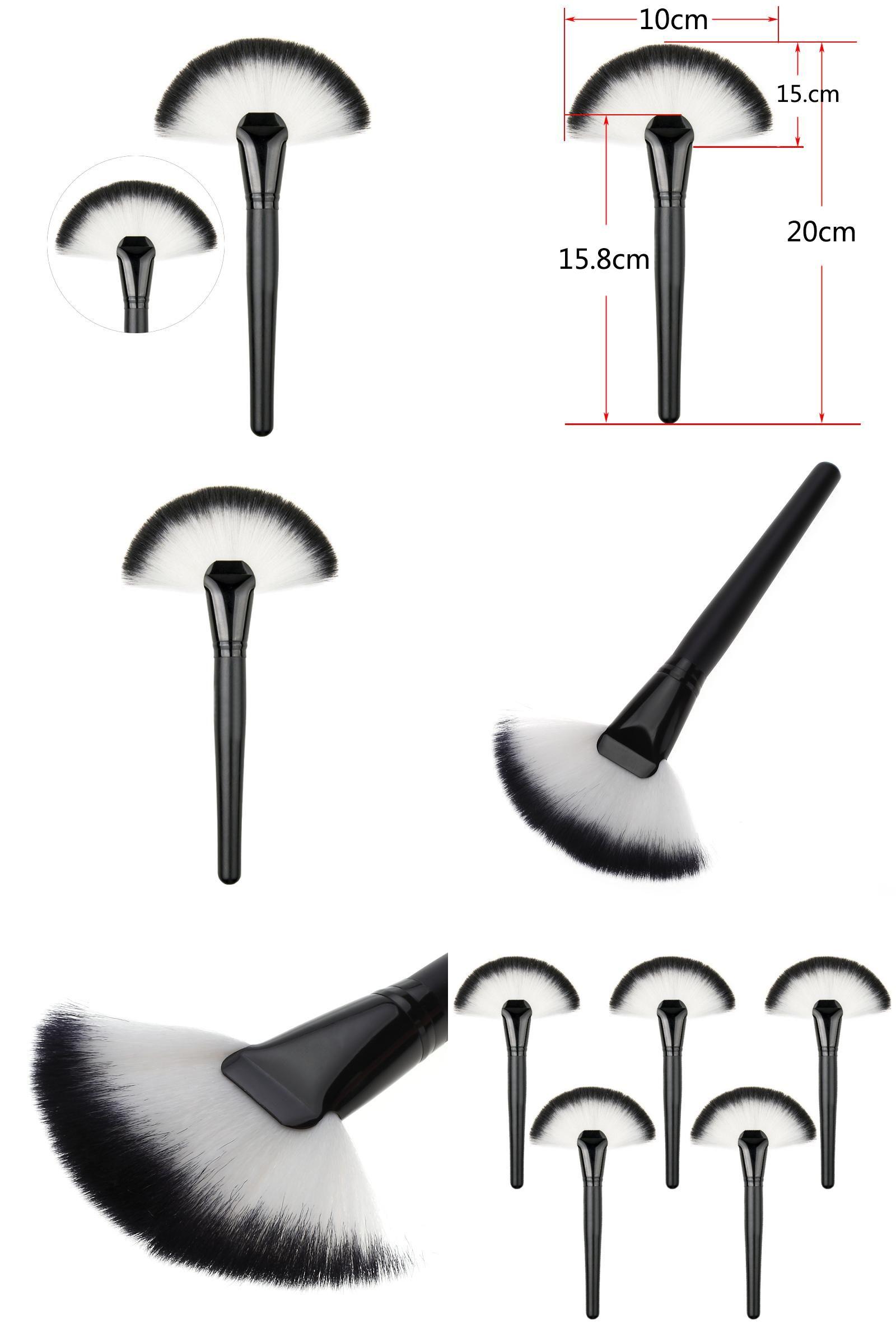 [Visit to Buy] Soft Large Fan Shape Makeup Brush