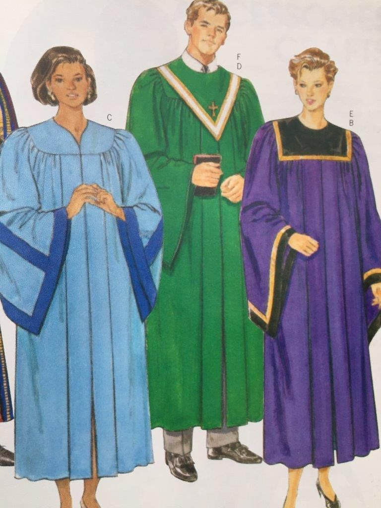 Butterick Sewing Pattern 5626 Mens Misses Robe Collar Size XS-XL ...