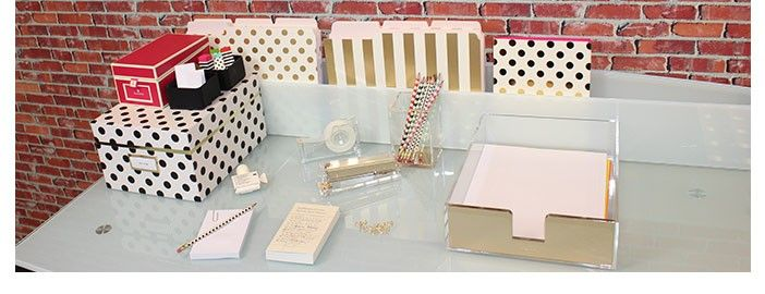 Kate Spade Inspired Desk Accessories (A Stroll Thru Life