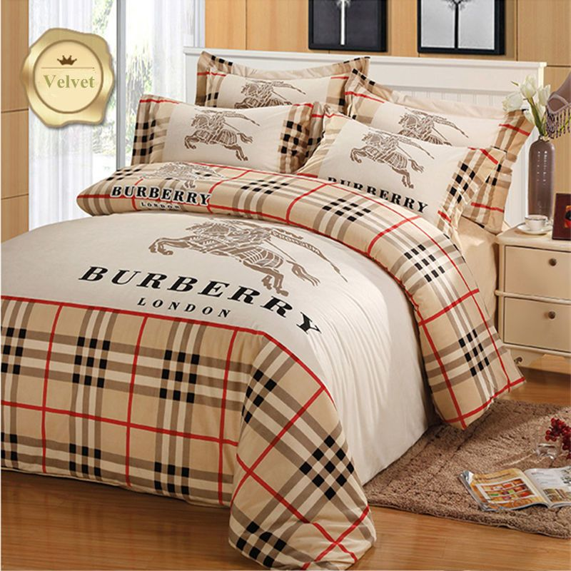 Bed Sheet Bedding Set Quilt Cover Velvet Brushed Denim Bedding Set 4pcs  #ArnoldPalmer #BritishColonial