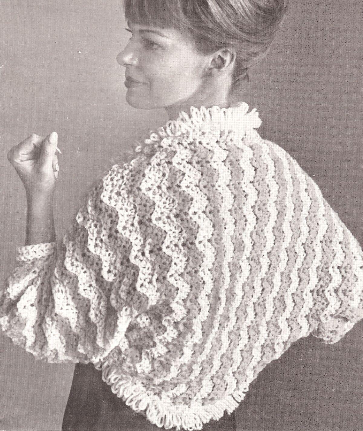 Vintage Bed Jacket Shrug Sweater Wrap Crochet Pattern | Good Stuff ...