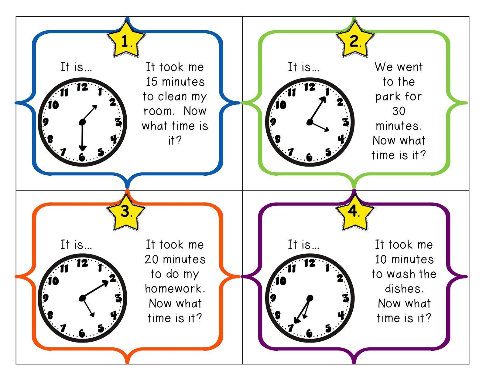 Math Menu 3 M 3 Elapsed Time