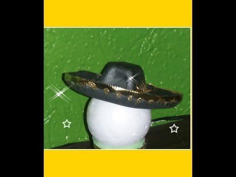 DIY COMO HACER SOMBRERO CHARRO FOAMY FOFUCHO - YouTube  9ce2e4ba7fc