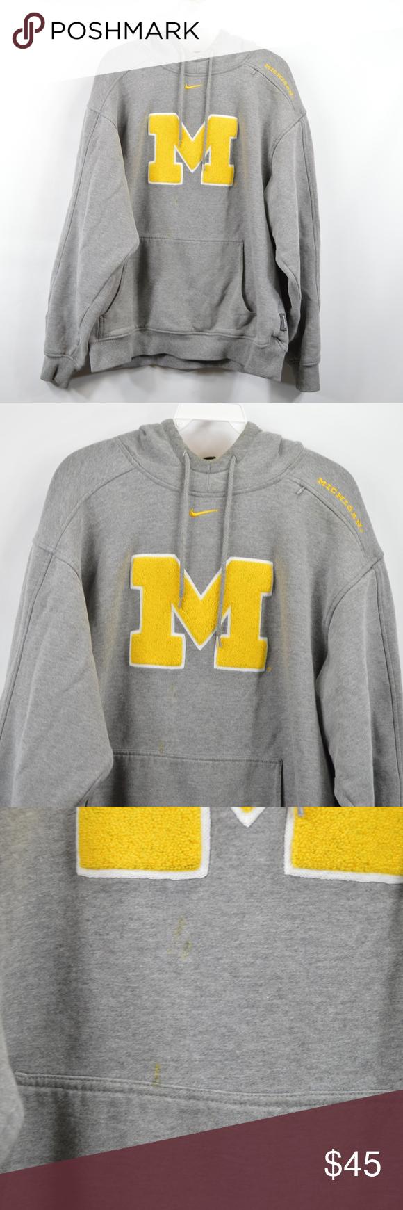 Nike Mens Small Michigan Wolverines Hoodie Gray Nike Michigan Wolveriens Team Issue Hooded Sweatshirt Hooded Sweatshirt Comes Fr Grey Hoodie Nike Men Hoodies [ 1740 x 580 Pixel ]