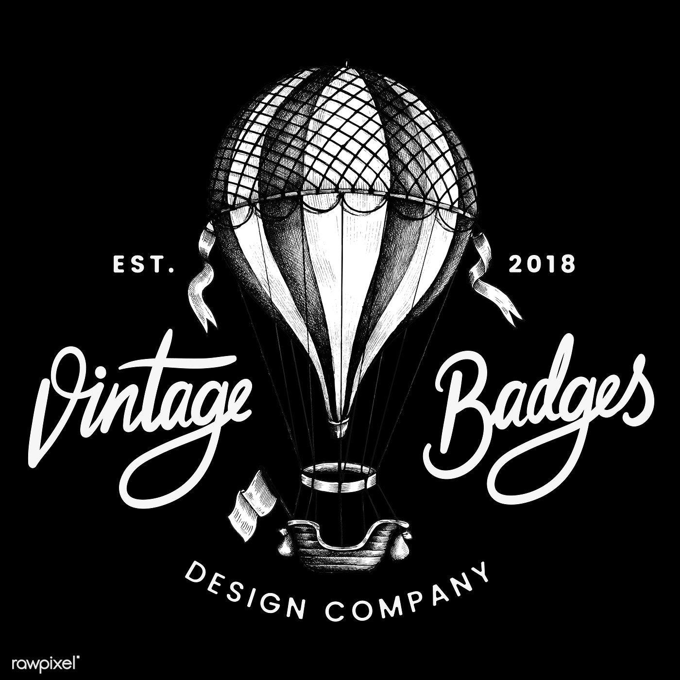 Vintage balloon logo design vector free image by