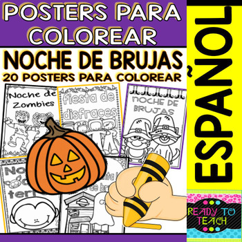 Coloring Posters in Spanish Halloween (20 posters) / 1