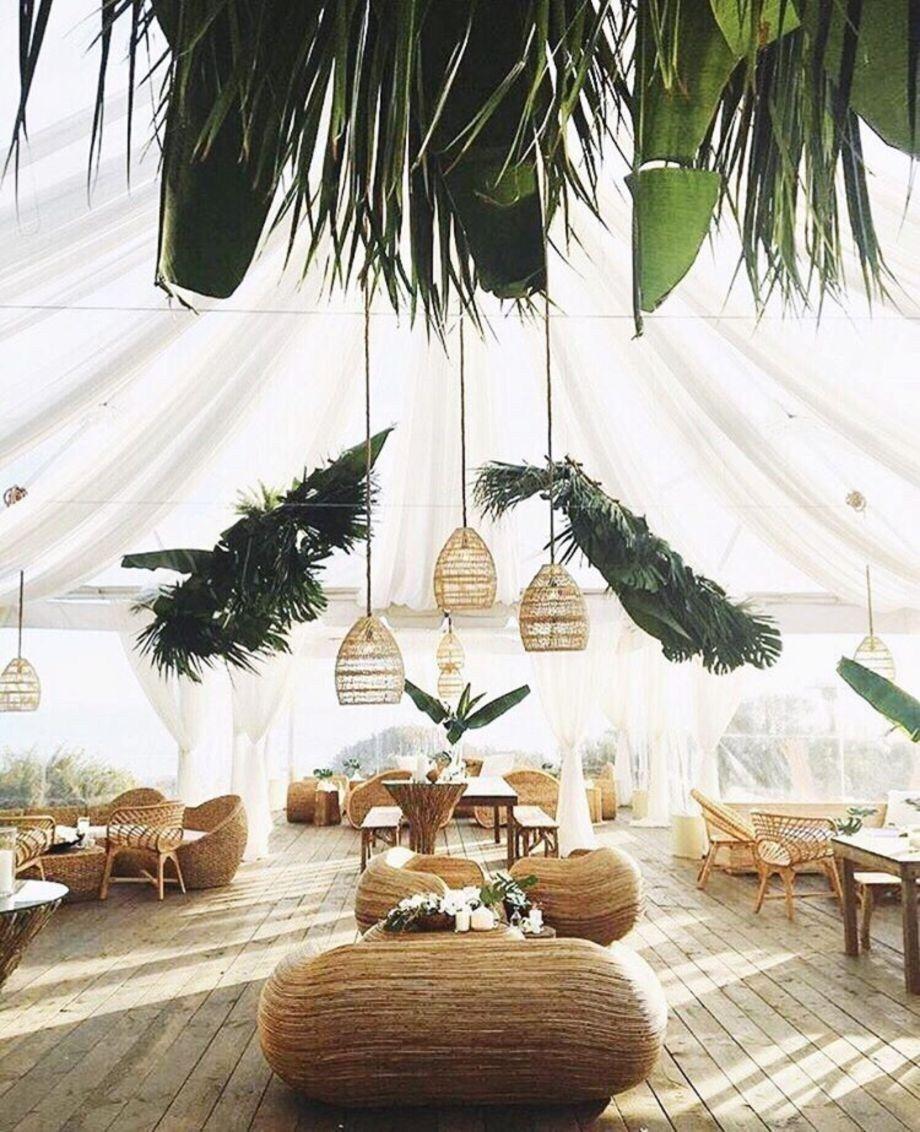 Inspiring Bohemian Style Living Room Decor Ideas 32 Tropical Wedding Tropical Wedding