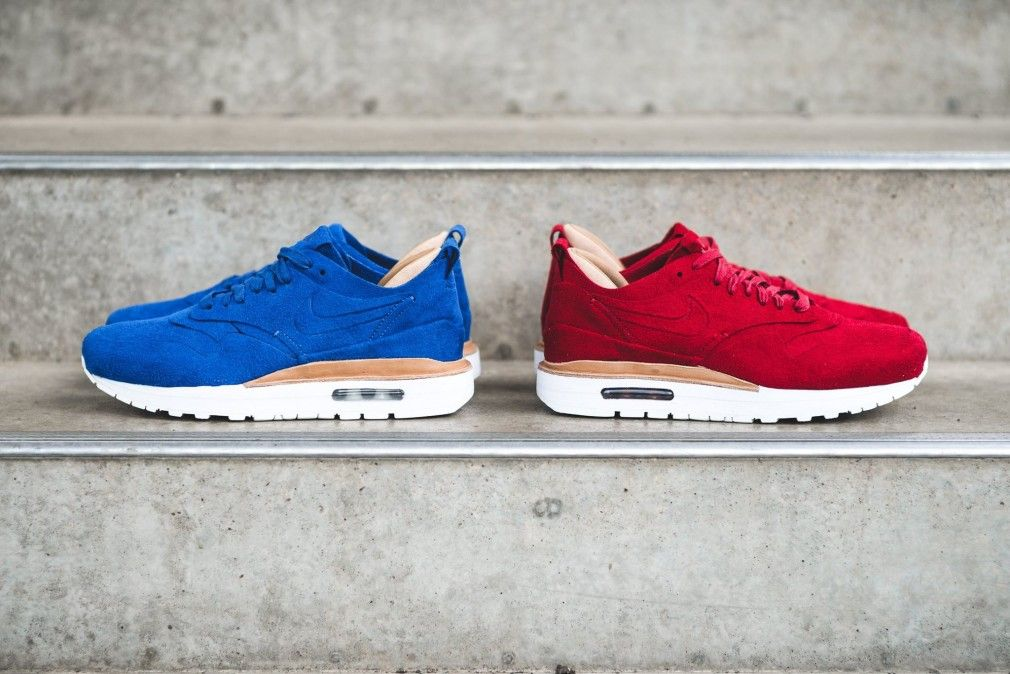 Nike Air Max 1 Premium Rouges De Gymnastique