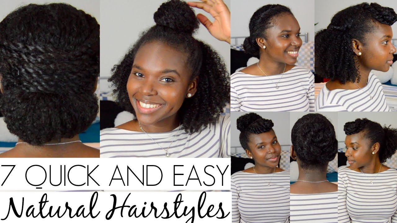quick and easy hairstyles for natural hair natural hair tips
