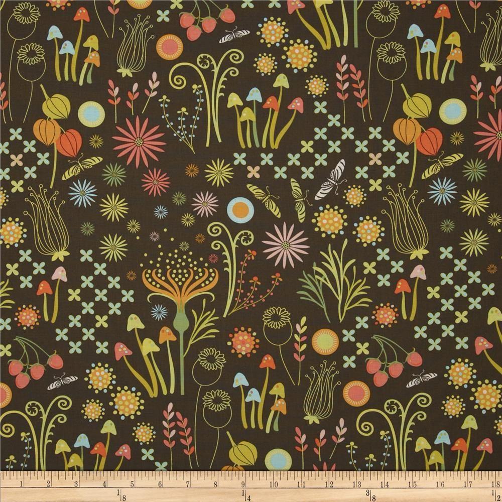 Michael Miller Helen\'s Garden Enchanted Mineral from @fabricdotcom ...
