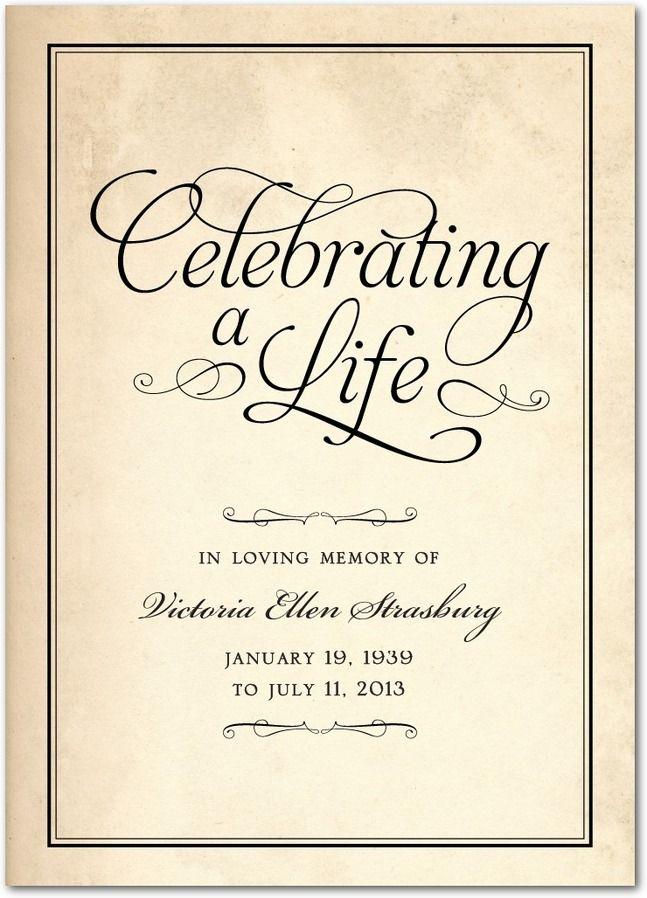 memorial services invitations