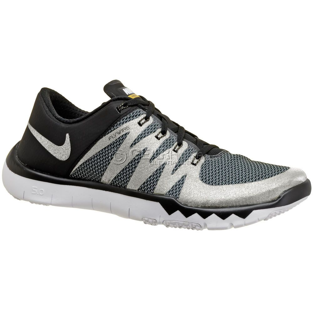 Nike Free Trainer 5.0 V6 AMP Mens Shoes, Black / Sparkle Silver, NFL Super Bowl #Nike #RunningCross… | Nike free trainer, Running shoes on sale, Mens athletic shoes