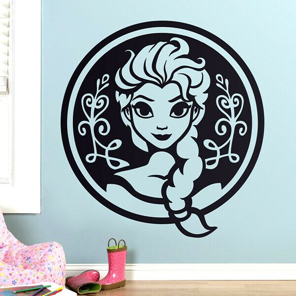Details About Frozen Children S Decorative Vinyl Decal Sticker Wall Art Queen Elsa In 2020 Sjablonen Silhouet Silhouet Cameo