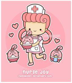 Nurse Joy By Squeakytoybox Deviantart Com On Deviantart Pokemon Nurse Kawaii Doodles