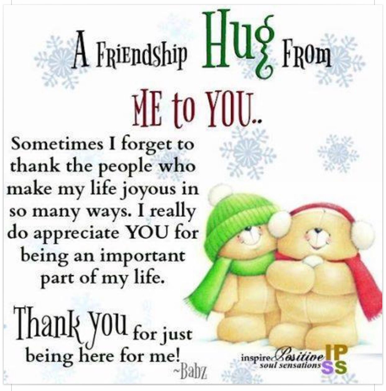 Thank You My Friend With Images Hug Quotes I Love You