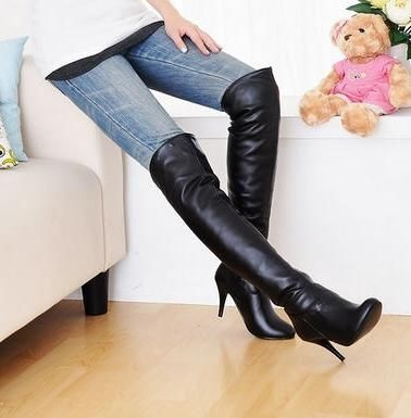 Thigh High Boots....maybe...only over jeans  to avoid looking trashy