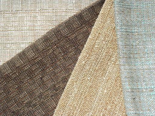 Mad Men Mid Century Vintage Upholstery Fabric Samples Lot Retro Colors Upholstery Fabric Samples Fabric Samples Upholstery Fabric
