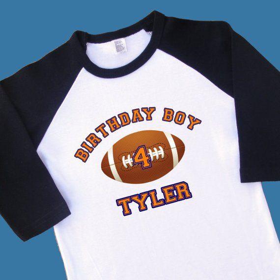 0f0a7d4745470 Varsity Football Birthday Jersey. Football Birthday Shirt. Football ...