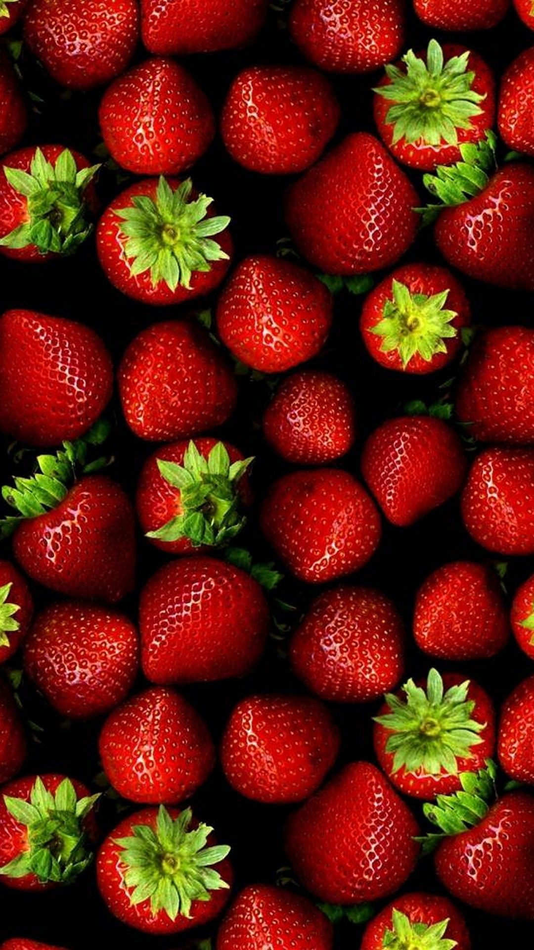 Strawberries Pattern Red Fruit Smartphone Wallpaper and