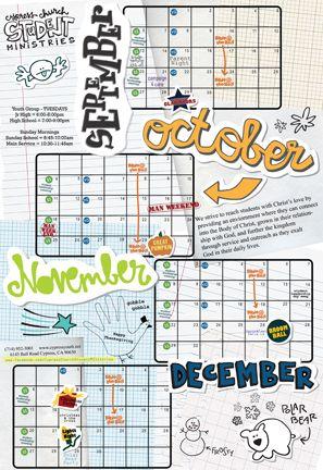 I like the idea of this calendar Make one per season with